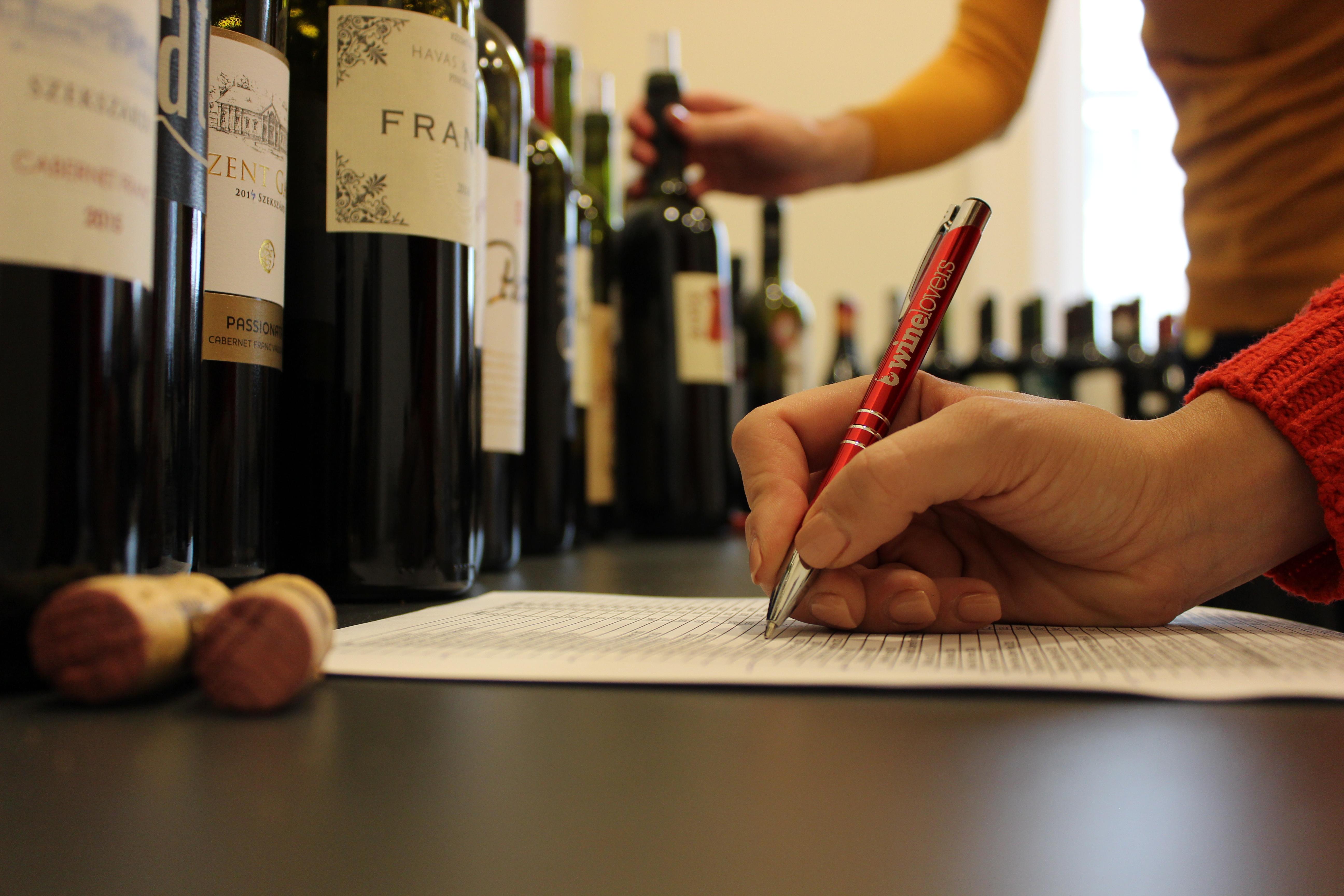Zsűrizés a borversenyen, Kép: Jáni Annamária