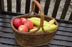 alma, banán, sütés nélkül