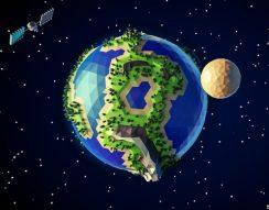 föld, internet, műhold, szolgáltatás