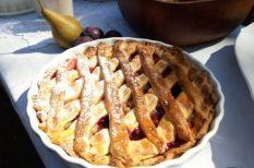 pite, szőlő, tészta