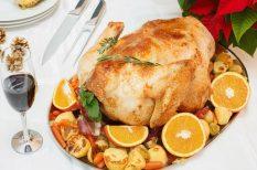 citrom, narancs, pulyka, sütés, ünnepi étek