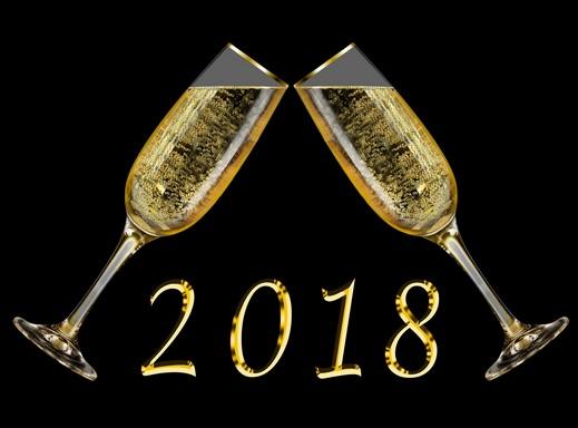 Két koccintó pezsgőspohár, 2018, Kép: pixabay