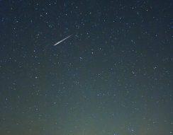 csillaghullás, december, égbolt, Geminidák, meteorraj