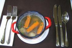 Bikács, fácán, fás galuska, leves