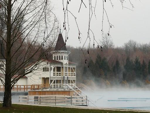 Hévíz télen, Kép: Wikimedia