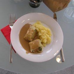 darált hús, főétel, húsos szalonna, levesbetét, sváb specialitás, tészta