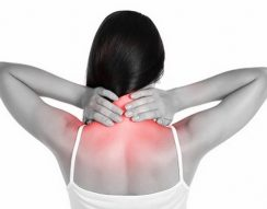 fájdalom, lapocka, merevség, nyak, stressz