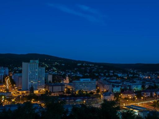 Salgótarján éjjel, Kép: wikimedia