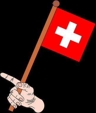 Svájci zászló kézben, Kép: pixabay