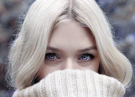 Szép női arc télen, Kép: pixabay