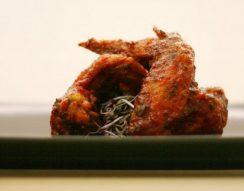 chili, csirkebőr, csirkeszárny, olajhőmérséklet, sütés
