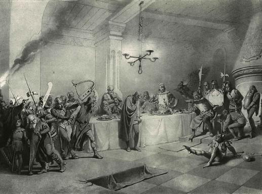 Zichy Mihály rétzkarca A walesi bárdokhoz, Kép: wikipedia