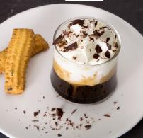 csokoládé, kávés, szirup, üvegpohár, Valentin nap
