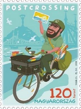 Postcrossing bélyeg, Kép: Magyar Posta