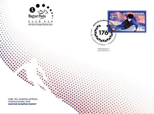 Téli olimpia bélyeg és boríték, Kép: Magyar Posta