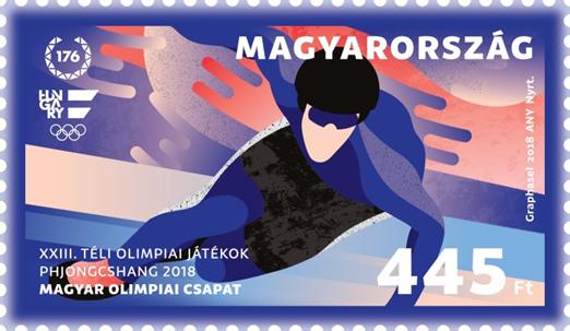 Téli olimpia bélyeg, Kép: Magyar Posta