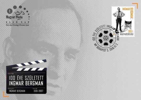 100 éve született Ingmar Bergman bélyeg és boríték, Kép: Magyar Posta