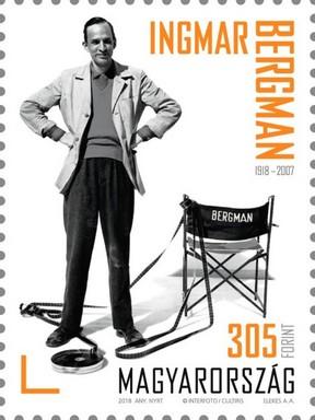 100 éves születet Ingmar Bergman bélyeg, Kép: Magyar Posta