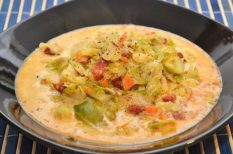 kelbimbó, kolbász, köménymag, leves, natúr tömlós sajt