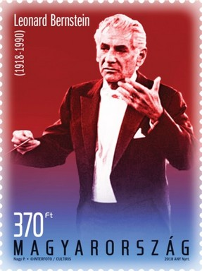 Leonard Bernstein bélyeg, Kép: Magyar Posta