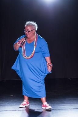Falusi Mariann az új ruhában, Kép: fiori fashion