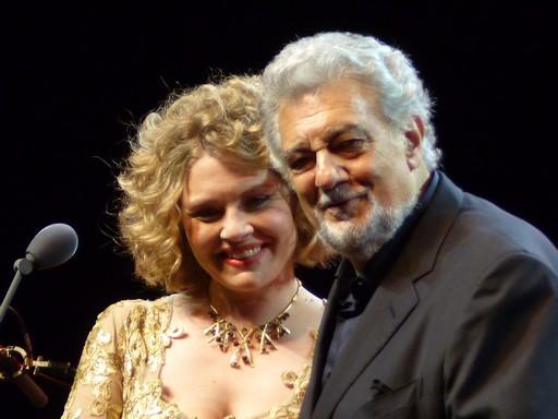 Polina Pasztircsák és Plácido Domingo, Kép: wikimedia