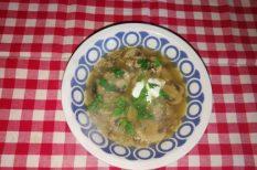 gomba, leves, petrezselyem, pulykanyak