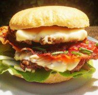 muffinzsemle, sajtburger, Simone gasztroságai, uzsonna, vacsora