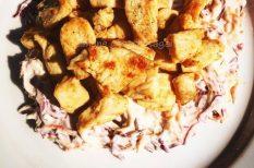 csirke, káposzták, karcsúsító, majonéz