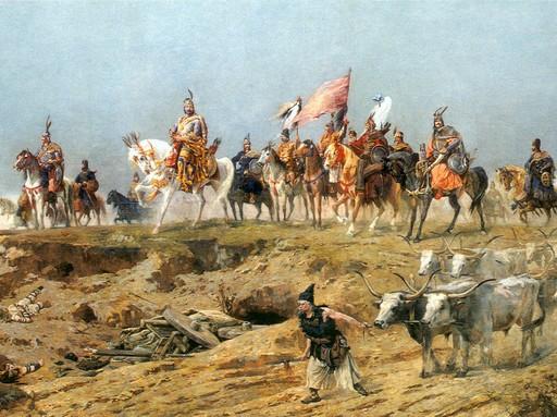 Feszty, A magyarok bejövetele, részlet, Kép: wikimedia