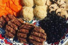 darált marha, diétás, majoránna, mustár, quinoa, zabpehely
