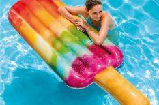 baleset, felfújható vízi eszközök, hinta, játék, nyár, strand, víz