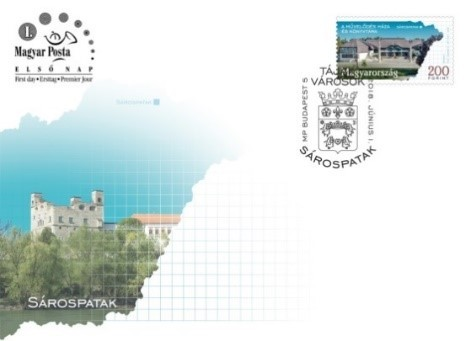 Sárospatak boríték, Kép: Magyar Posta