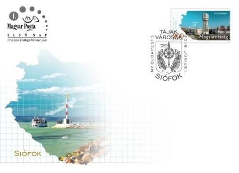 Siófok boríték, Kép: Magyar Posta
