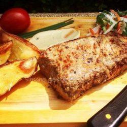 hátszín, marha, mustár, pác, steak