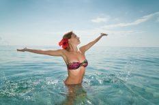 csipke, divat, dizájn, fürdőruha, nyár, strand, vibráló színek