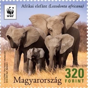 Elefánték bélyegen, Kép: Magyar Posta