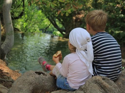 Gyerekek uzsonnáznak az erdőben, Kép: pixabay