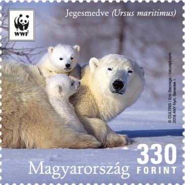 Jegesmacik bélyegen, Kép: Magyar Posta