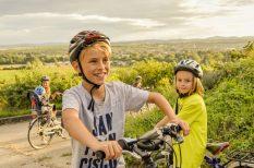 Alsó-Ausztria, család, gyerekek, kerékpár, kirándulás, szabadság, természet, túra