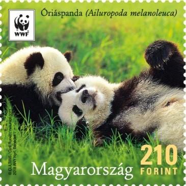 Panda család bélyegen, Kép: Magyar Posta
