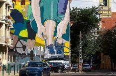 2019, budapest, Európa, Európa Sportfővárosa, falfestmény, mozgás, sport