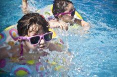gyerekjáték, mozgás, nyár, ötlet, szabad levegő, szabadság, víz