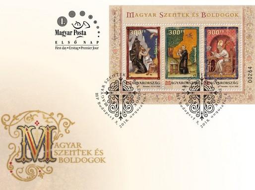 Magyar szentek és boldogok bélyegek és díszboríték, VI., Kép: Magyar Posta