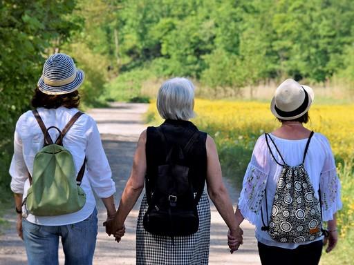 Séta, barátnők, semleges, Kép: pixabay