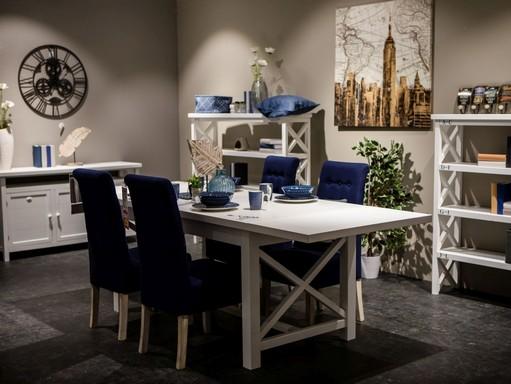 Kék-fehér ebédlő, Kép: kika
