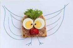 egészséges étkezés, gyerek, májas, szendvics, tanáv, uzsonna