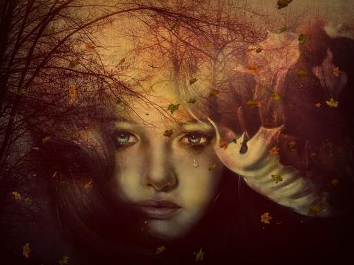 Szomorú nő, művészi felvétel, Kép: pixabay