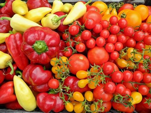 Bio paradicsom, paprika, Kép: pixabay