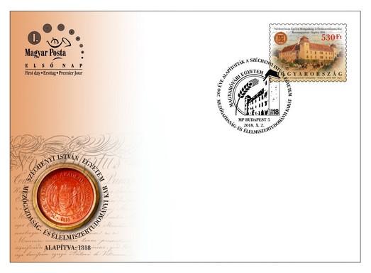 Egyetemi díszboríték, Kép: Magyar Posta